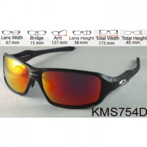 OAKLEY C-SIX BLACK FIRE LENS- KODE : KMS754D