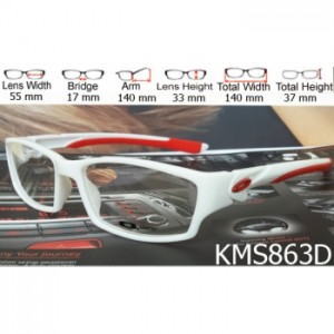 OAKLEY SCALPEL WHITE RED - KMS863D