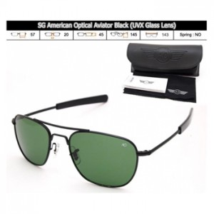 KACAMATA SPORT SG American Optical Aviator Black