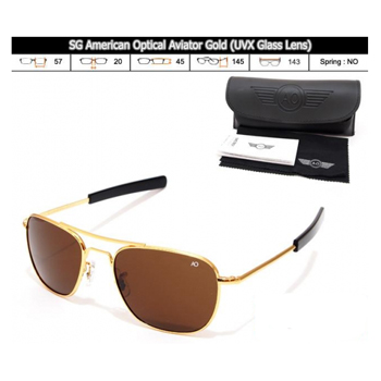 KACAMATA SPORT SG American Optical Aviator GOLD