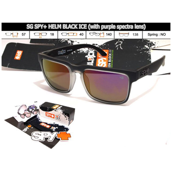 KACAMATA SPY+ HELM BLACK ICE (WITH PURPLE SPECTA LENS) (PAKET LENGKAP)
