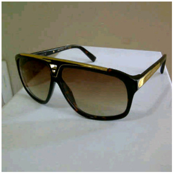 KACAMATA WANITA LV EVIDANCE BLACK AND BROWN