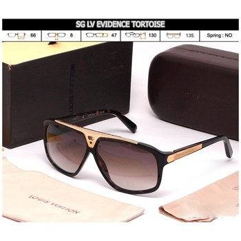 KACAMATA WANITA LV EVIDENCE BLACK AND BROWN (PREMIUM)