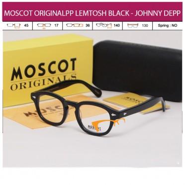 JUAL KACAMATA ONLINE MOSCOT ORIGINALS LEMTOSH BLACK - JOHNNY DEPP