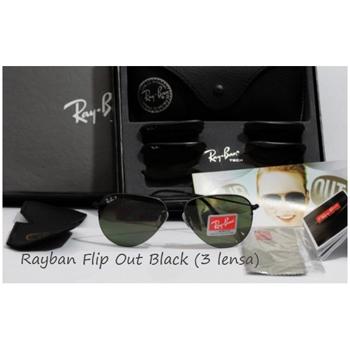 RAYBAN FLIP OUT BLACK (3 LENSES)