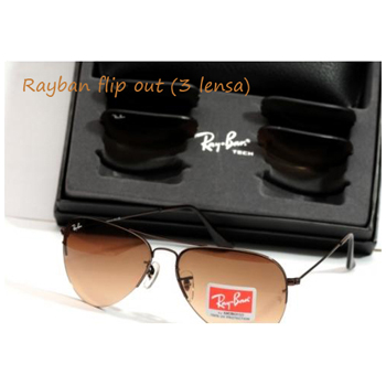 RAYBAN FLIP OUT BROWN (3 LENSES)