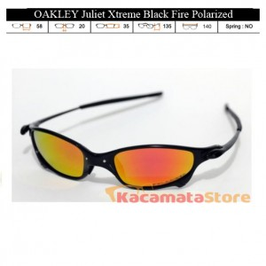 KACAMATA OAKLEY Juliet Xtreme Black Fire Polarized