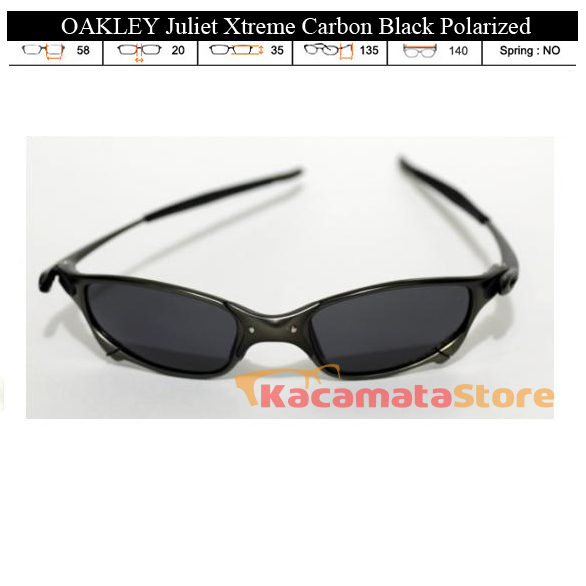 KACAMATA OAKLEY Juliet Xtreme Carbon Black Polarized