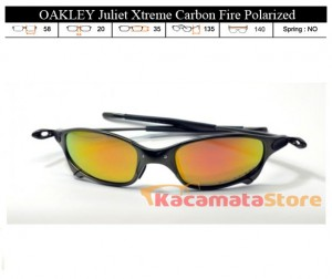 KACAMATA OAKLEY Juliet Xtreme Carbon Fire Polarized