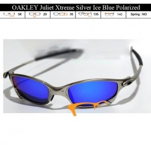 KACAMATA OAKLEY Juliet Xtreme Silver Ice Blue Polarized