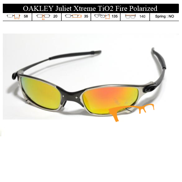 KACAMATA OAKLEY Juliet Xtreme TiO2 Fire Polarized