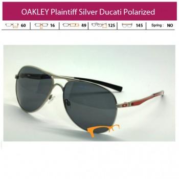 KACAMATA OAKLEY Plaintiff Silver Ducati Polarized