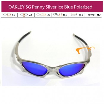 KACAMATA OAKLEY SG Penny Silver Ice Blue Polarized