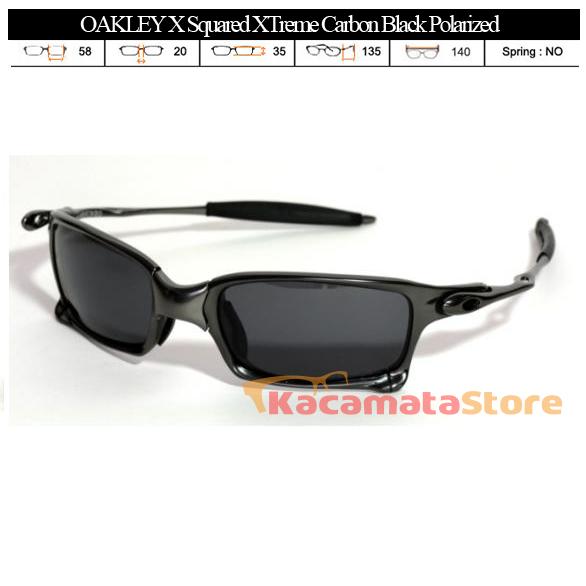 KACAMATA OAKLEY X Squared XTreme Carbon Black Polarized