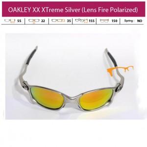 KACAMATA OAKLEY XX XTreme Silver (Lens Fire Polarized)