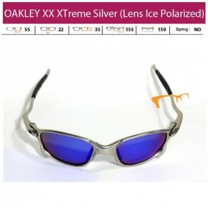 KACAMATA OAKLEY XX XTreme Silver (Lens Ice Polarized)