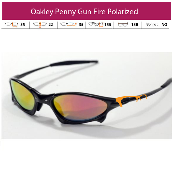 KACAMATA OAKLEY SG Penny Gun Fire Polarized