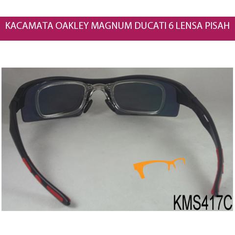 KACAMATA OAKLEY MAGNUM DUCATI 6 LENSA PISAH - KODE : KMS417C
