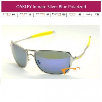 KACAMATA OAKLEY INMATE SILVER BLUE