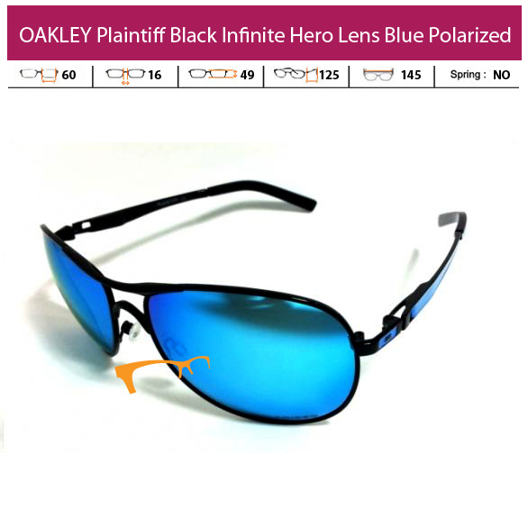 Kacamata Oakley Plaintiff Black Infinite Hero Blue Lens Polarized