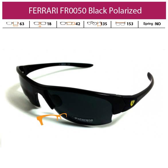 KACAMATA FERRARI SPORT FR0050 BLACK POLARIZED