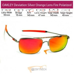 OAKLEY Deviation Silver Orange Lens Fire Polarized