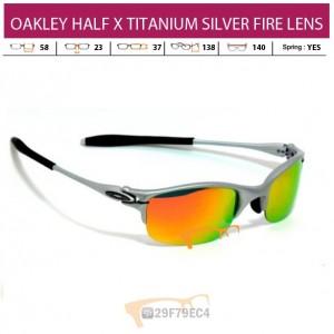 OAKLEY HALF X TITANIUM SILVER FIRE LENS