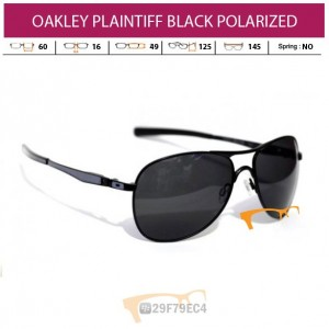 OAKLEY PLAINTIFF BLACK POLARIZED