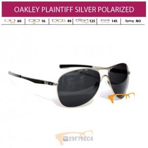 OAKLEY PLAINTIFF SILVER POLARIZED
