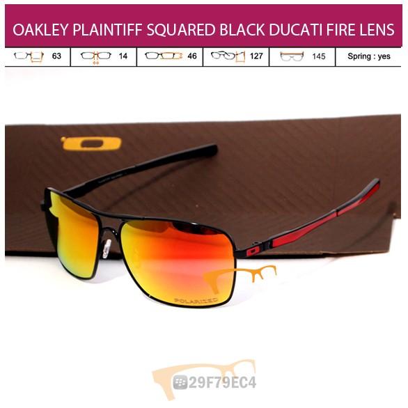 OAKLEY PLAINTIFF SQUARED BLACK DUCATI FIRE LENS