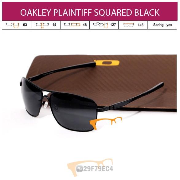 OAKLEY PLAINTIFF SQUARED BLACK
