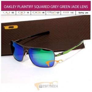 OAKLEY PLAINTIFF SQUARED GREY GREEN JADE LENS