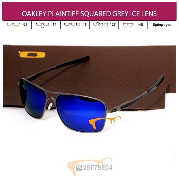 OAKLEY PLAINTIFF SQUARED GREY ICE LENS