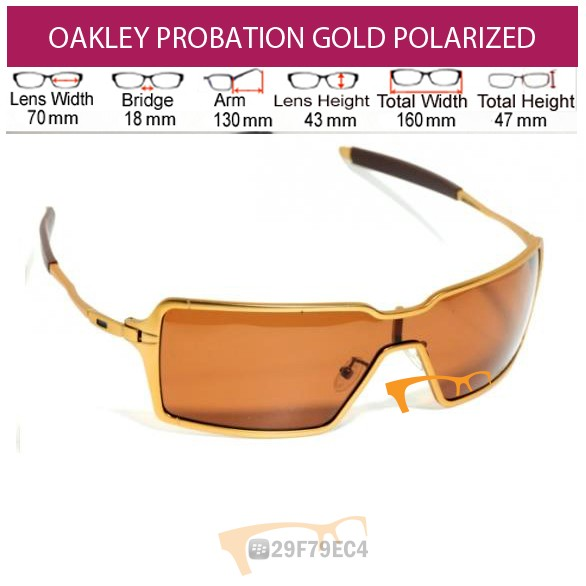 Kacamata OAKLEY Probation Gold Polarized