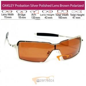 OAKLEY Probation Silver Polished Lens Brown Polarized
