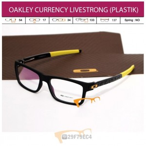 OAKLEY CURRENCY BLACK LIVESTRONG