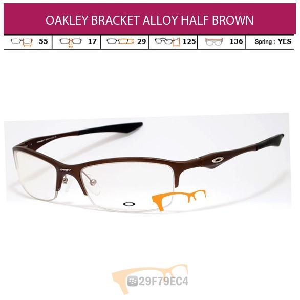 OAKLEY BRACKET ALLOY HALF BROWN