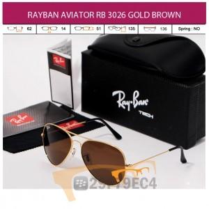 RAYBAN AVIATOR RB 3026 GOLD BROWN
