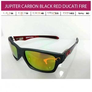 OAKLEY JUPITER CARBON BLACK DARK RED DUCATI FIRE LENS