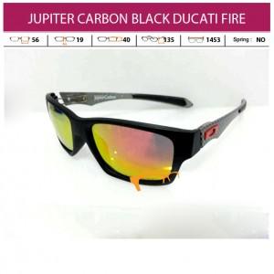 OAKLEY JUPITER CARBON BLACK DUCATI FIRE LENS