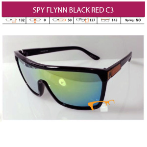 JUAL KACAMATA SPY FLYNN BLACK RED
