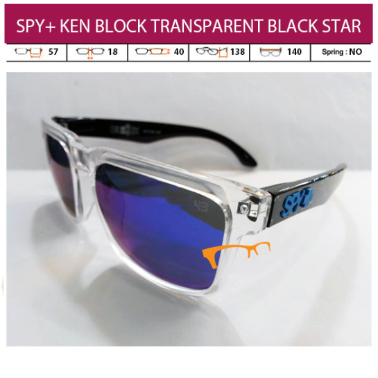 KACAMATA SPY+ KEN BLOCK TRANSPARENT BLACK STAR