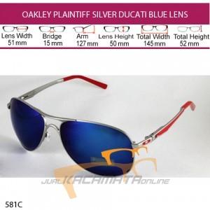 OAKLEY PLAINTIFF SILVER DUCATI BLUE LENS