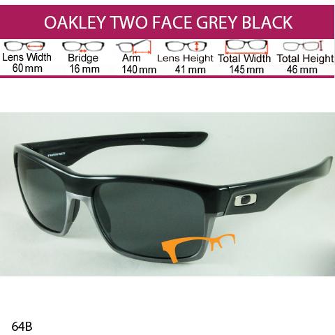 OAKLEY TWO FACE GREY BLACK