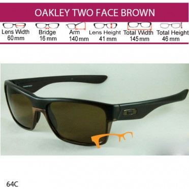 OAKLEY TWO FACE BROWN