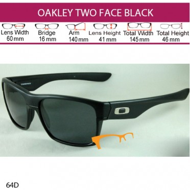 OAKLEY TWO FACE BLACK