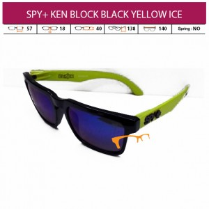 SPY+ KEN BLOCK BLACK YELLOW ICE LENS (PAKET LENGKAP)