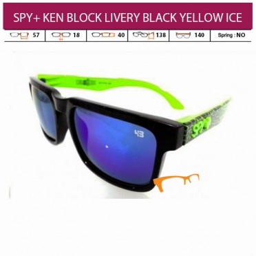 SPY+ KEN BLOCK LIVERY BLACK YELLOW ICE LENS (PAKET LENGKAP)