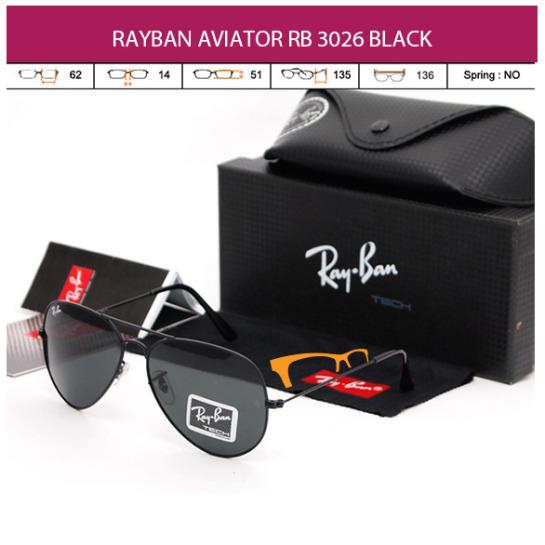 JUAL KACAMATA RAYBAN AVIATOR RB 3026 BLACK