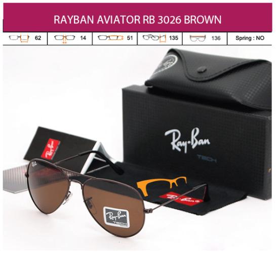 JUAL KACAMATA RAYBAN AVIATOR RB 3026 BROWN